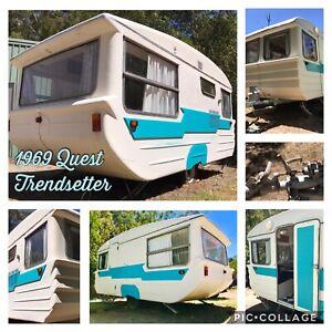 Rare Retro Vintage Quest 1969 Trendsetter Caravan