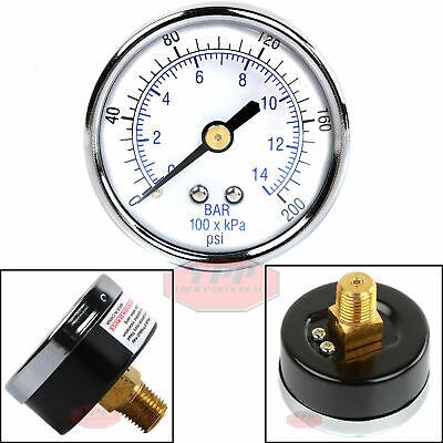 14 200 Psi Compressor Compressed Air Pressure Gauge Back Mount