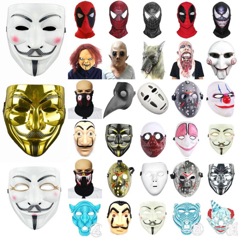 Karneval Party Masken Superhelden Horror Erwachsene Kind Cosplay Fasching Kostüm
