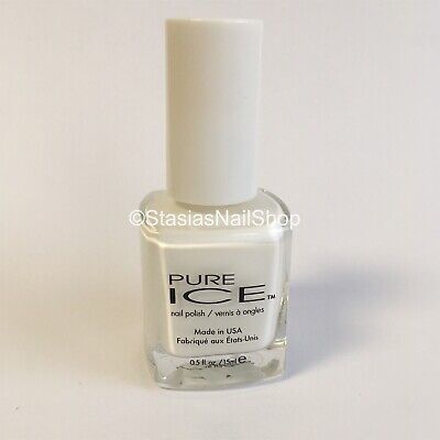 Best White Nail Polish Pure Ice SUPER STAR 981 DISCONTINUED