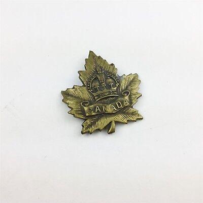 VINTAGE CANADA MILITARY CROWN  BADGE