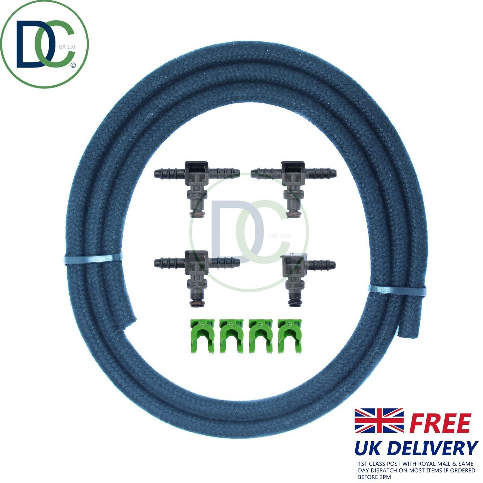 Denso Diesel Injector Leak Off Connector Kit /& Clips