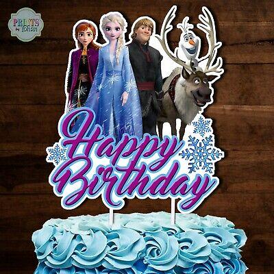 Frozen Cake Decorations (DISNEY FROZEN 2 Cake Topper, CUTOUT, Frozen 2 Cake Decoration,)
