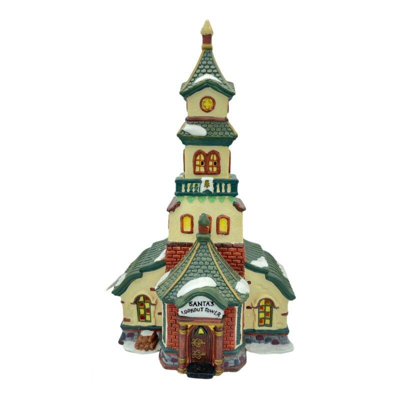 Heartland Valley Village Deluxe Porcelain Lighted House Santa's Lookout Tower