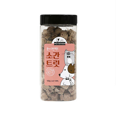 Pet Father Freeze Dried Beef Liver Dog Food Snack Treats 160g