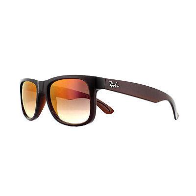 Ray-ban Sonnenbrille Justin 4165 714/S0 Brown Gradient Spiegel Rot