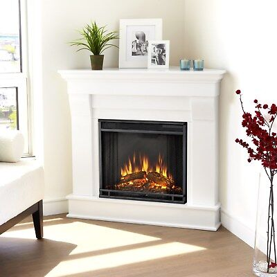 RealFlame Chateau Electric Firepace Heater Corner White or Espresso