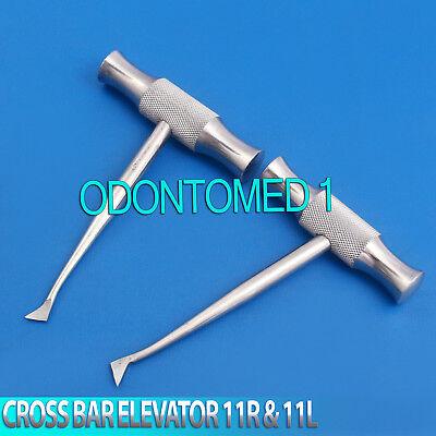 2 Pcs Cross Bar Dental Surgery Root Tooth Elevator Winter Cryer 11r 11l