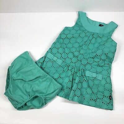 Nautica Baby Apparel 6-9 Month Girls Dress 2 Piece Set Teal