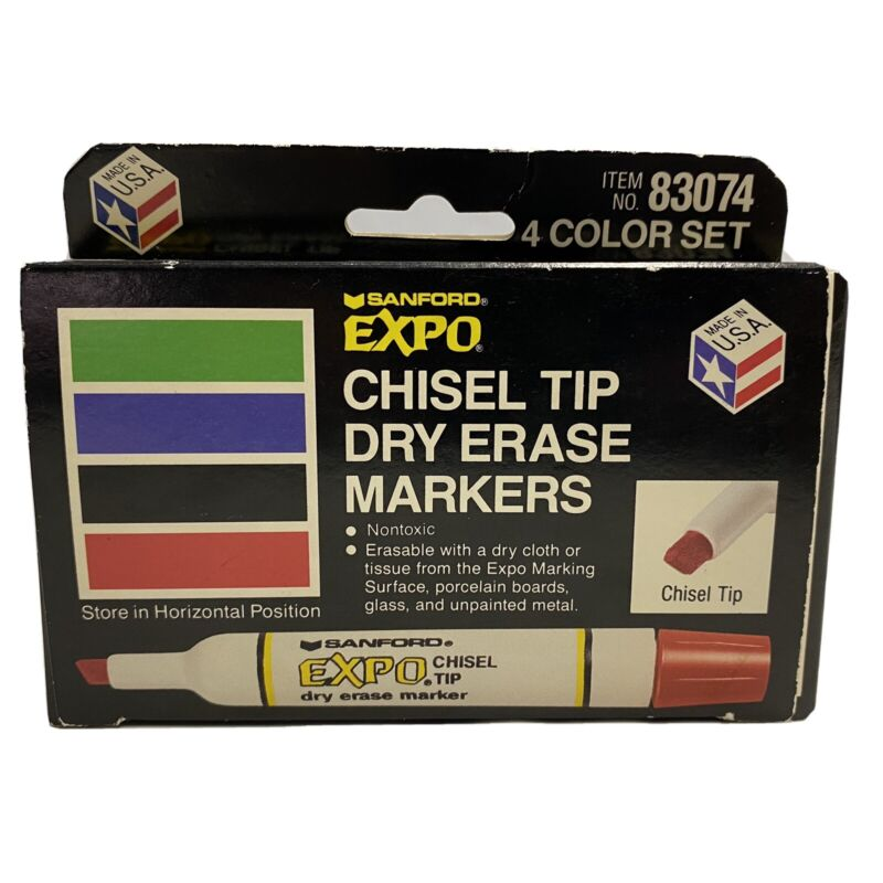 sanford Chisel Tip expo dry erase markers 1 Doesn't Look as Old See Pics Vintage