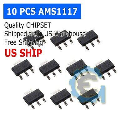 10pcs Ams1117-3.3 Lm1117-3.3 Ams1117 3.3v 1a Voltage Regulator Sot-223 M153