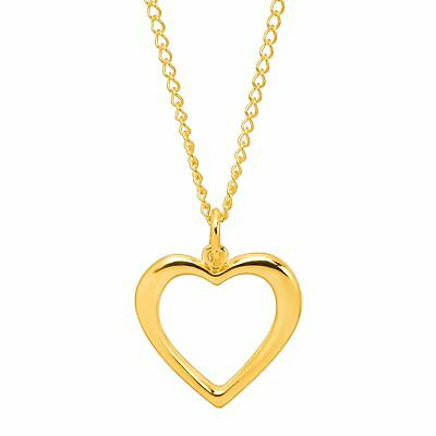 Open Heart Silhouette Pendant in 10K Gold with Gold-Filled Chain - Heart Silhouette Pendant