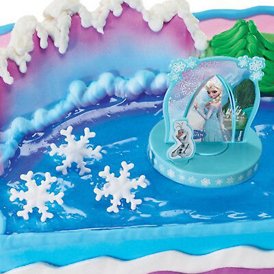 4 Piece Disney's FROZEN Ice Queen Party Birthday Cake Topper Decorating Kit ()