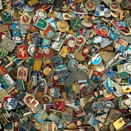 20 pcs Mix of Original Soviet Union enamel PINS, Made in USSR Ukraine, Lenin