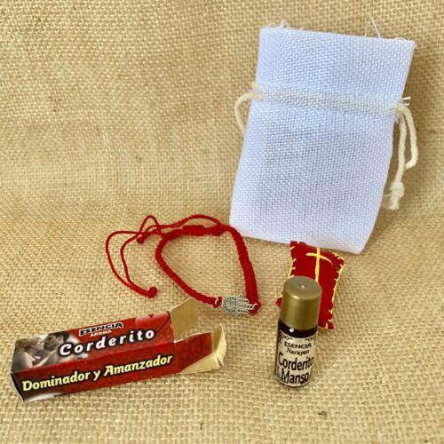 Cordero Manso.Amansador.Spiritual Oil Set. - $7.99