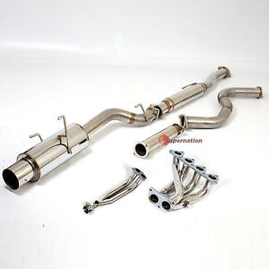 96-00 EK JDM Civic 3D Hatchback HB Hatch Catback Exhaust Header Pipe System Kit