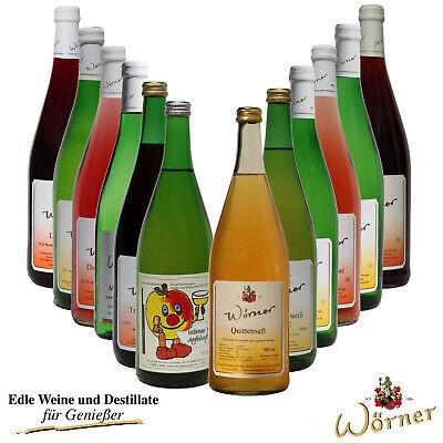 WEINGUT WÖRNER: Probierpaket 12 Fl. Weißwein Rotwein Saft - Weinprobe vom Winzer