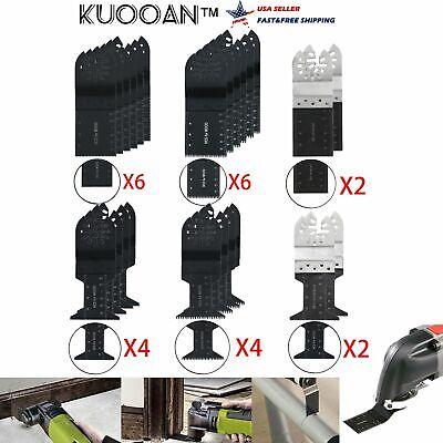 24x Universal Oscillating Multi Tool Mix Saw Blades Bi Metal Cutter Set Kit