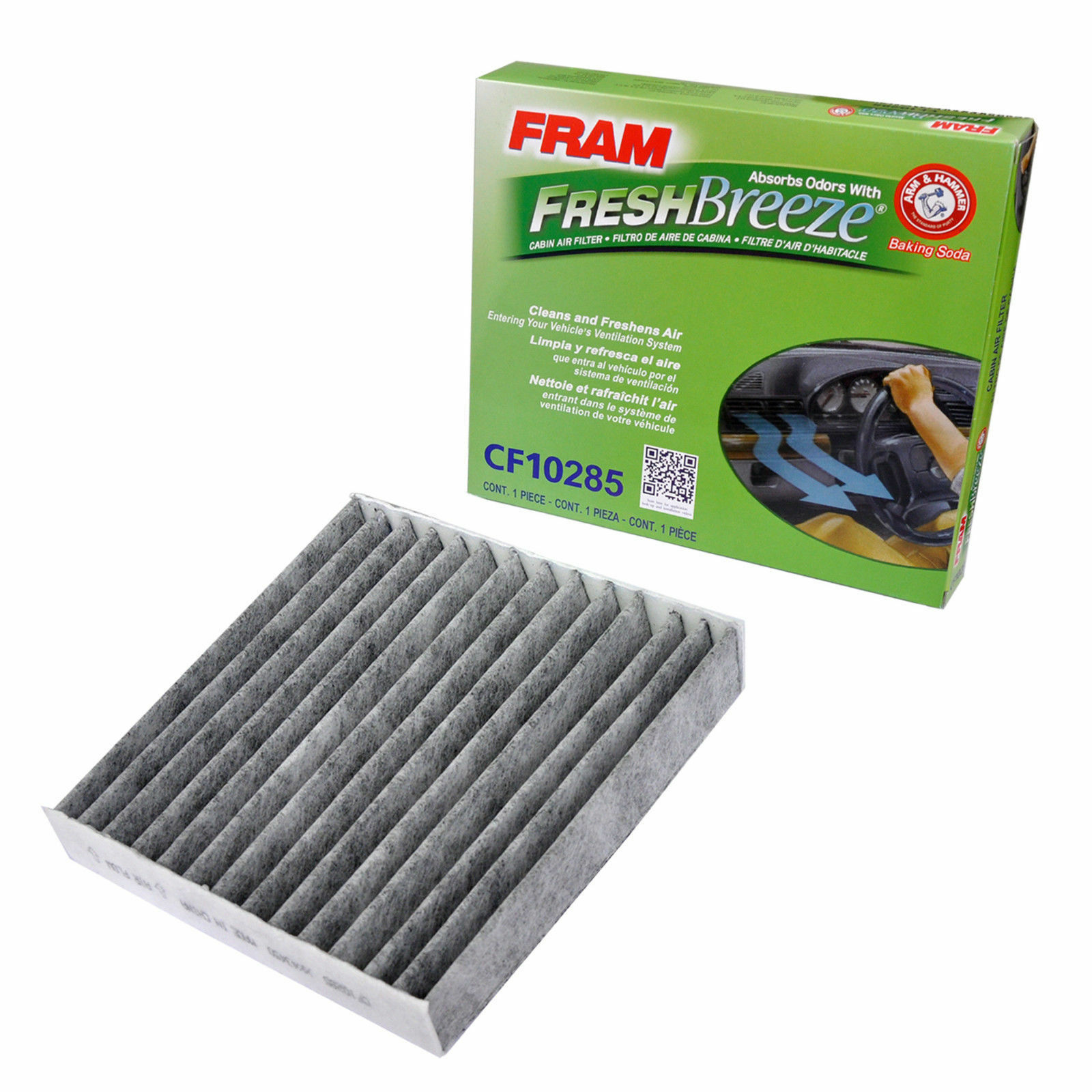 FRAM CF10285 Fresh Breeze Cabin Air Filter with Arm & Hammer NEW