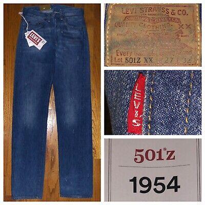 cf4b1eaf NWT Levi's LVC 1954 501 ZXX Big E Selvedge Denim Jeans Size 27 X 32 Talon