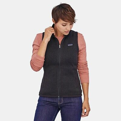 Patagonia Womens Better Sweater Zip Vest Small Black