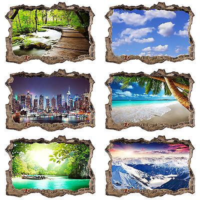 3d Wandillusion Wandbild Fototapete Poster xxl Loch in der Wand c-C-0104-t-a