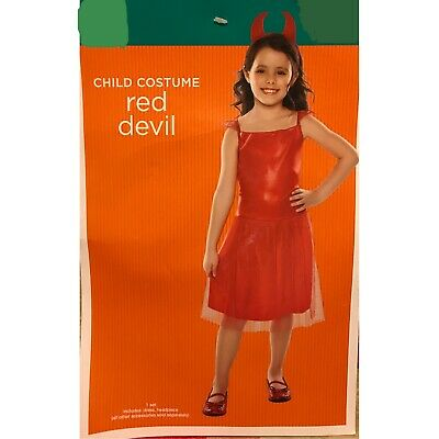 Devil Girl Halloween Costume (Girl's Red Devil Halloween Costume NWT)