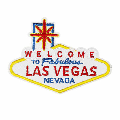Welcome To Las Vegas Embroidered Patch Iron/Sew-On Applique Travel Souvenir