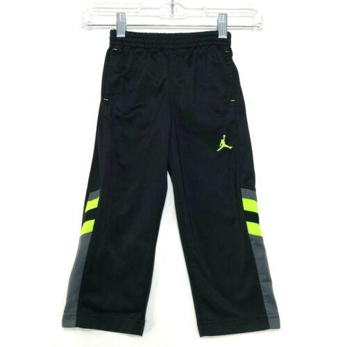 NIKE Jumpman Track Pants Toddler Boy 3T Black Green Embroidered Sweat Pants