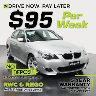 $95pw- inc 5 yr warranty, rego, roadside, RWC- BMW 5 series Williamstown North Hobsons Bay Area Preview