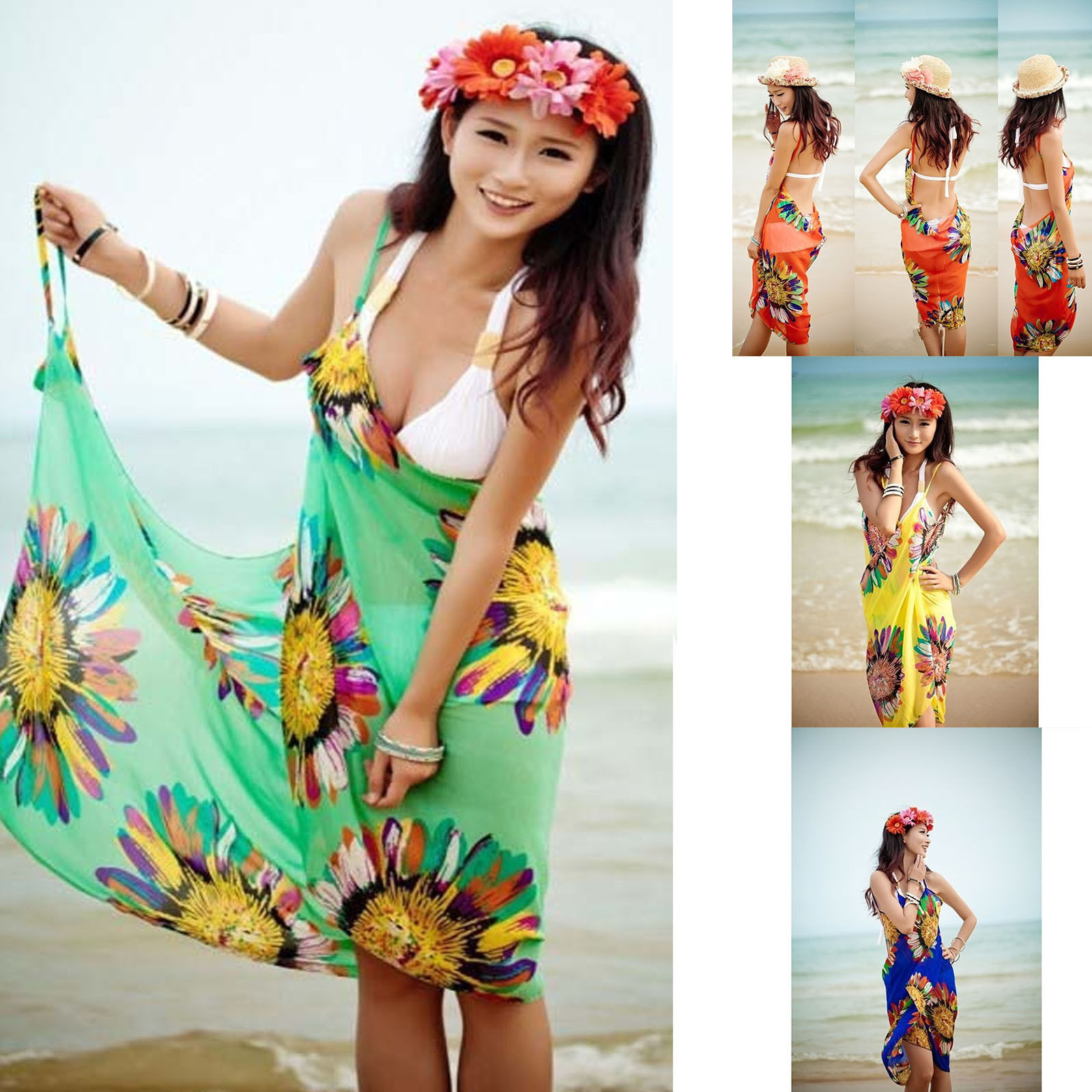 Blouses & Shirts Fashion Women Summer Bathing Suit Bikini Swimwear Cover Up Beach Shirts Sarong Wrap Pareo Excellent Quality