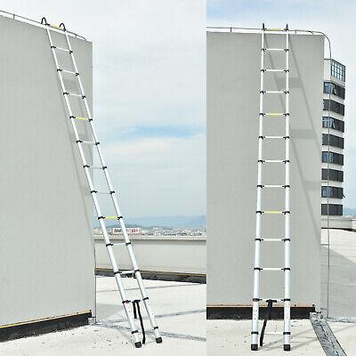 6.33m 5m 4.4m Folding Aluminum Telescoping Heavy Duty Roof Climb Ladder W Hook