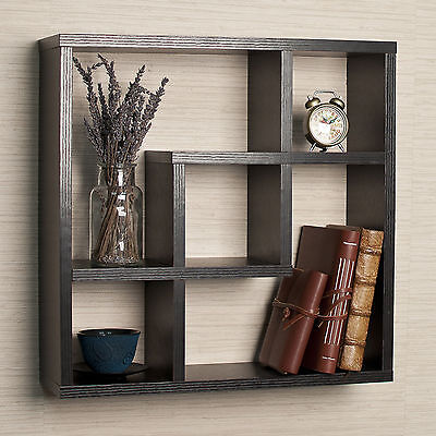 Negroid Square Wall Shelf Indoor Home Living Room Decor Hallway Bedroom Furniture