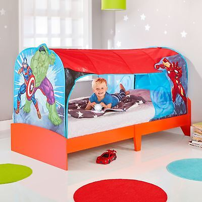 MARVEL AVENGERS BED TENT DEN SINGLE PLAY SPACE CHILDRENS BEDROOM