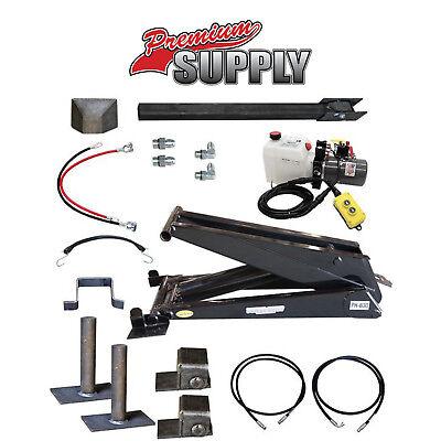 12 Ton 24000 Lb Dump Trailer Hydraulic Scissor Hoist Kit Ph630 Power Hoist