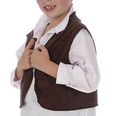 Kinder Bettelknabe Braun Weste Schlecht Kamin Oliver Sweeper Büchertag Kostüm UK