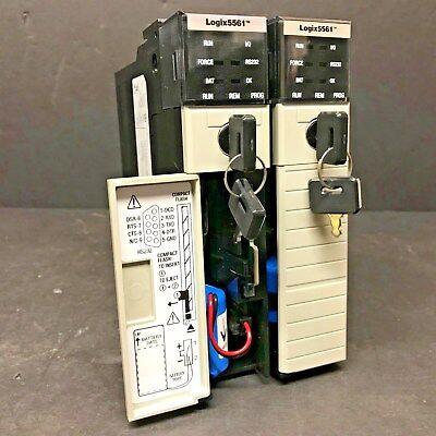 Allen Bradley 1756-l61 Ser B Fw 1.9 Controllogix 5561 Cpu Processor Tested Plc