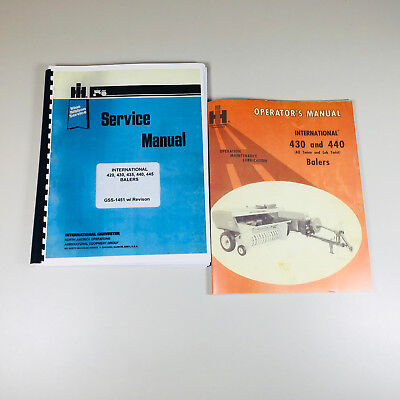 International 430 440 Baler Owner Operator Service Repair Manual Knotter More