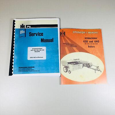 International 430 440 Baler Owner Operator Service Repair Manual Knotter More