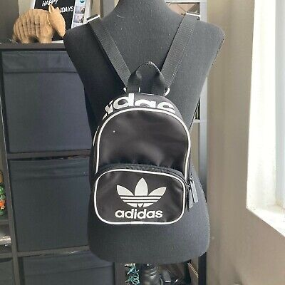Mini Black and White Adidas Trefoil Backpack One Size