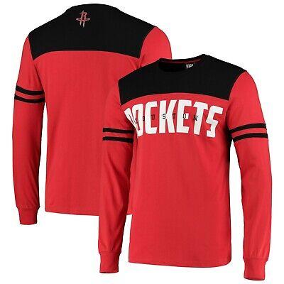 B84 Mens 3XL Houston Rockets Cut And Sew Long Sleeve T-Shirt -...