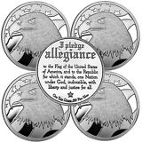 Pledge of Allegiance Silver Eagle 1oz .999 Silver Round LOT OF 5