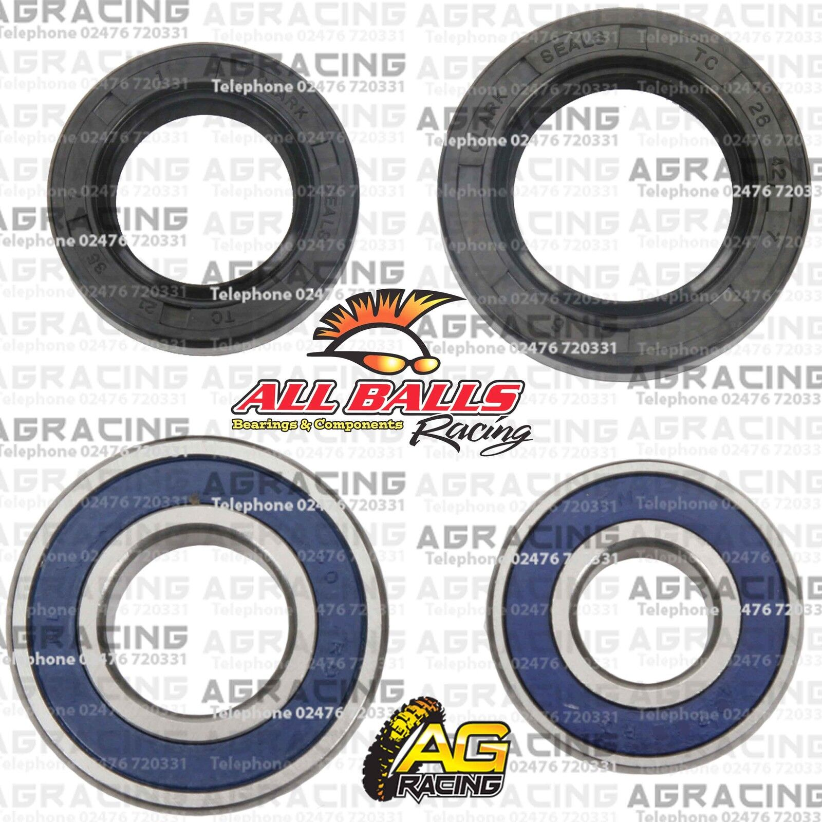 All Balls 25-1044 Wheel Bearing and Seal Kit For 2007 Yamaha YFM250 Big Bear