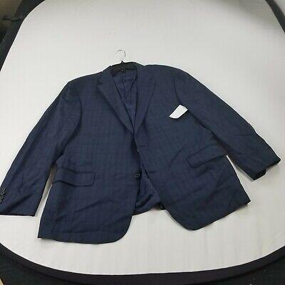 Hickey Freeman suit jacket coat 48R  blue striped aa