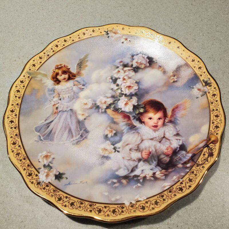 "Heavenly Hideaway Plate Sandra Kuck ""Gardens of Innocence"" #3625GI 1st Issue"