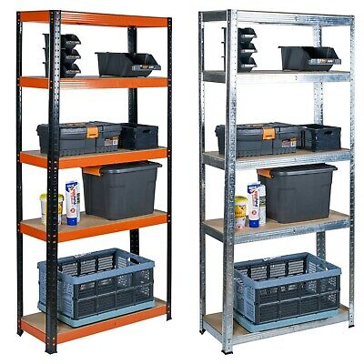 5 Tier Heavy Duty Metal Shelves Garage Racking Shelving Boltless Storage Unit