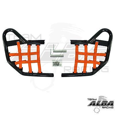 Yamaha Raptor 700 YFM 700 YFM700 Nerf Bars  Alba Racing   Black Orange 197 T1 BO