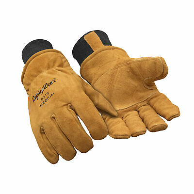RefrigiWear Warm Fleece Lined Fiberfill Insulated Cowhide Leather Work (Insulated Leather Work Gloves)