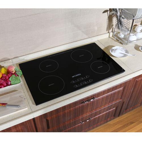 31.5 inch Induction Hob 4 Burner Stove Glass Plate Home Elec