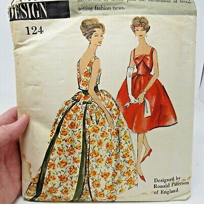 Vintage Pattern Vogue Couturier Design #124 Ronald Paterson SZ 14 Bust 34 *read*